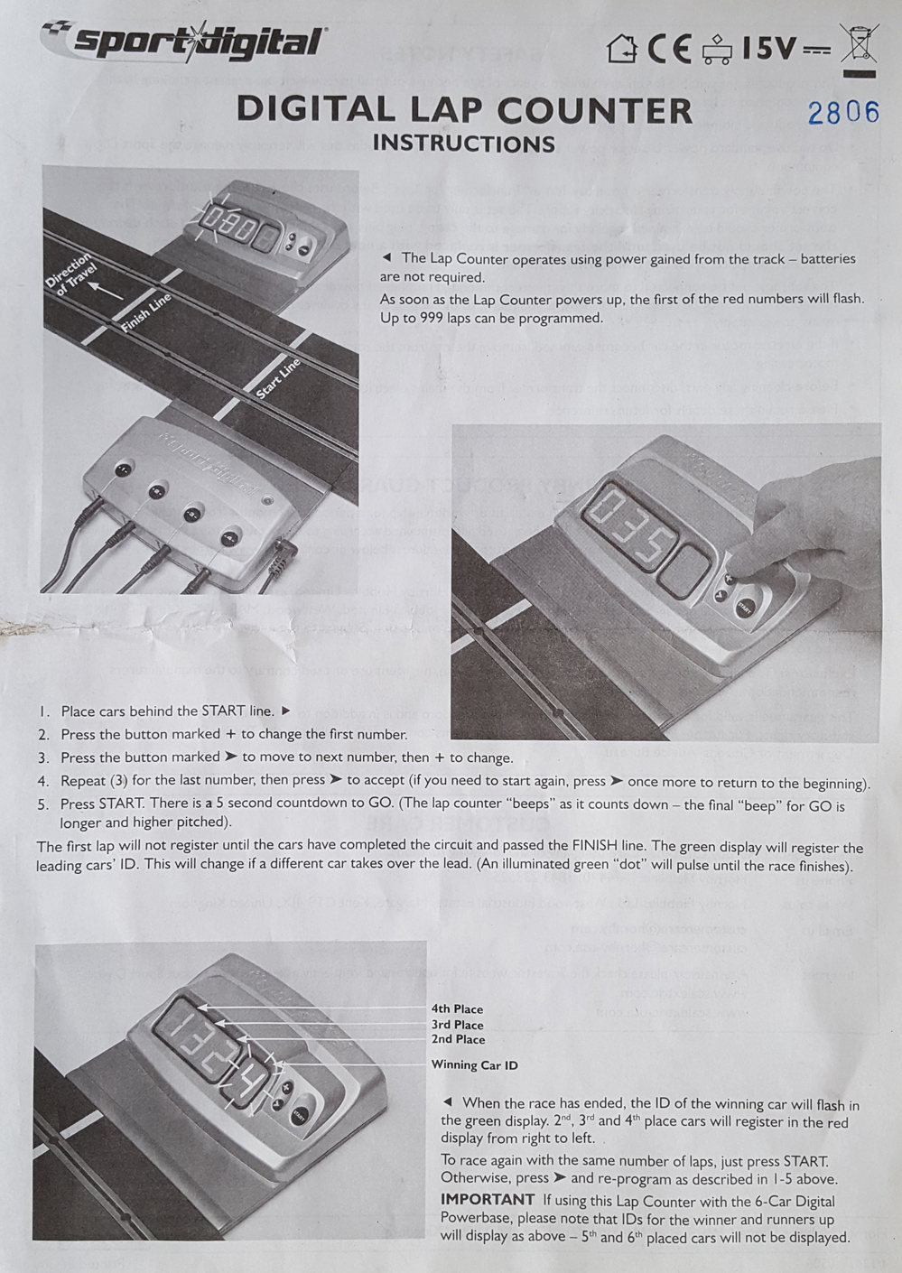 Scalextric Instruction Manuals – Action Slot Racing